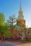 Independence Hall in Chestnut Street in Philadelphia in PA Stock Photography