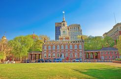 Independence Hall on Chestnut Street of Philadelphia PA Stock Images