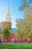 Independence Hall in Chestnut Street in Philadelphia of PA Royalty Free Stock Image