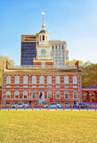 Independence Hall in Chestnut Street in Philadelphia Royalty Free Stock Photos