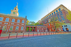 Independence Hall and Congress Hall of Philadelphia Royalty Free Stock Photography
