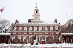 Independence Hall, historical landmark in Philadel Royalty Free Stock Photo