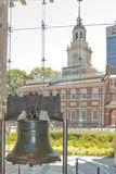 Independence hall and the liberty bell Royalty Free Stock Photos