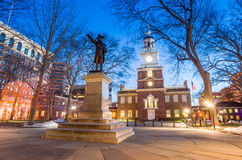 Independence Hall National Historic Park Philadelphia. At twilight Royalty Free Stock Images