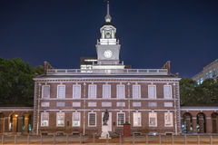 Independence Hall at Night Stock Photos