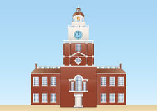 Independence hall in Philadelphia Stock Image