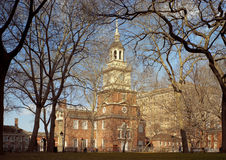 Independence Hall, Philadelphia. View of Independence Hall, Philadelphia from rear through trees Royalty Free Stock Photography