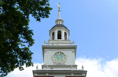 Independence Hall, Philadelphia. Independence Hall bell tower in old town Philadelphia, Pennsylvania, USA. Now Independence Hall is a UNESCO World Heritage Site royalty free stock photos