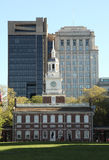 Independence Hall Philadelphia. Independence Hall front side lacated in Philadelphia Stock Photos