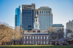 Independence Hall in Philadelphia stock image