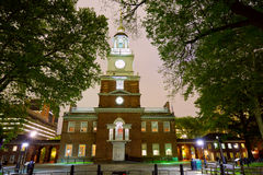 Independence Hall in Philadelphia. At night, USA Stock Images