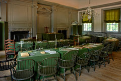 Independence Hall in Philadelphia Pennsylvania. Historic Independence Hall in Philadelphia Pennsylvania as home of the July fourth 1776 signature of the United Stock Photos
