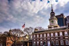 Independence Hall, in Philadelphia, Pennsylvania. Royalty Free Stock Photos