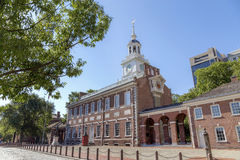 Independence Hall, Philadelphia. Side view of the Independence Hall in Philadelphia Stock Image