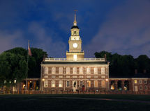 Independence Hall Solo. Independence Hall with background office towers removed Royalty Free Stock Photo