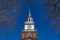 Independence Hall tower in Philadelphia stock images