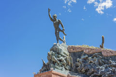 Independence Heroes in Humahuaca, Argentina. Monument to the Independence Heroes (Monumento a los Heroes de la Independencia)  in Humahuaca, located north of Royalty Free Stock Images