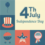 Independence icons Stock Image