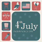 Independence icons Stock Photography