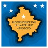 Vector illustration. Independence day Republic of Kosovo national stock background. designs for posters, backgrounds, cards, banne. Rs, stickers, etc. EPS file royalty free illustration