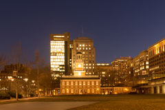 Independence Mall. Historic Independence Square in Philadelphia at night Royalty Free Stock Images