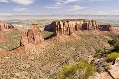 Independence Monument. A view of Independence Monument from Rim Rock Drive in Colorado National Monument Stock Images