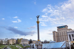 Independence Monument Berehynia  Maidan Square Kiev Ukraine Royalty Free Stock Photography