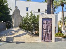 Independence Monument. Bodrum downtown. Mugla, Turkey. stock images