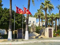 Independence Monument. Bodrum downtown. Mugla, Turkey. royalty free stock photos
