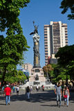 Independence monument column in Guayaquil, Ecuador Royalty Free Stock Photography