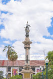 Independence Monument at Historic Center of Quito Stock Image