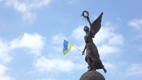Independence Monument in Kharkiv stock video footage