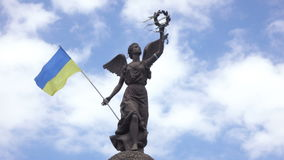 Independence Monument in Kharkiv stock video