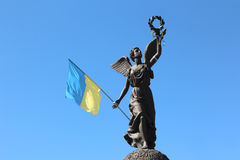 Independence monument in Kharkov, Ukraine Royalty Free Stock Photography
