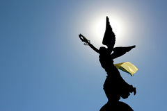 Independence monument in Kharkov, Ukraine. The silhouette in the sunlight of the monument of independence in Kharkov, Ukraine Royalty Free Stock Photos
