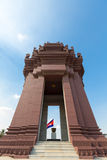 Independence Monument is a landmark in Phnom Penh, Cambodia. Independence Monument (Vimean Ekareach) in Phnom Penh, Khmer architecture in Cambodia Royalty Free Stock Images