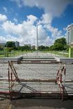Independence Monument. And Mahabandoola Garden in Yangon, Myanmar Stock Image