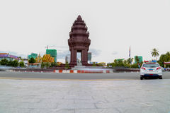 Independence Monument is the one of landmark in Phnom Penh, Cambodia. The 20-meter high monument was designed by Cambodian architect, Vann Molyvann, and is Royalty Free Stock Image