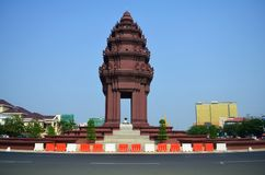 Independence Monument, in Phnom Penh, Cambodia. The Independence Monument in Phnom Penh, Cambodia Stock Images