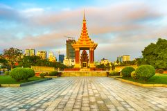 The Independence Monument in Phnom Penh, Cambodia royalty free stock photography