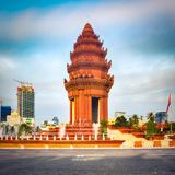 The Independence Monument in Phnom Penh, Cambodia royalty free stock photos