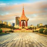 The Independence Monument in Phnom Penh, Cambodia stock images