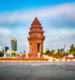 The Independence Monument in Phnom Penh, Cambodia royalty free stock photo