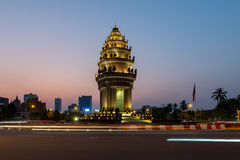 Independence Monument Phnom Penh, Cambodia Jan 2016. Royalty Free Stock Image