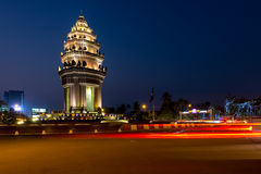 Independence Monument Phnom Penh, Cambodia Jan 2016. Royalty Free Stock Photo