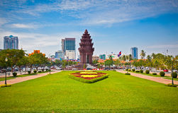 Independence Monument in Phnom Penh, Cambodia. Royalty Free Stock Images