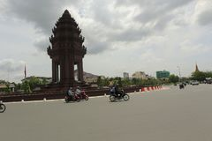 Independence Monument Phnom Penh Cambodia. The Independence Monument `Vimean Ekareach` in Phnom Penh, capital of Cambodia, was built in 1958 to memorialize Stock Photography