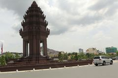 Independence Monument Phnom Penh Cambodia. The Independence Monument `Vimean Ekareach` in Phnom Penh, capital of Cambodia, was built in 1958 to memorialize Stock Image