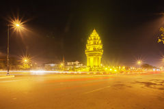 Independence Monument, Phnom Penh, Cambodia. Independence Monument was built in 1958 for Cambodia's independence from France in 1953. The Angkor Wat is Cambodia Stock Photo
