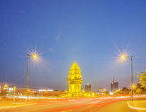 Independence Monument, Phnom Penh, Cambodia. Independence Monument was built in 1958 for Cambodia's independence from France in 1953. The Angkor Wat is Cambodia Royalty Free Stock Photography